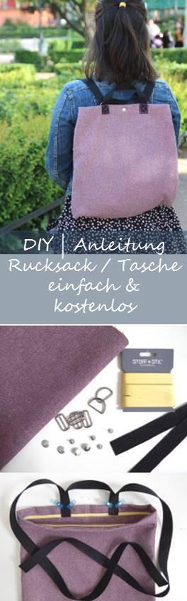 Tutorial Rucksack Tasche Nähen DIY